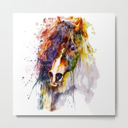 Abstract Horse Head Metal Print