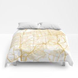 SAN FRANCISCO CALIFORNIA CITY STREET MAP ART Comforters