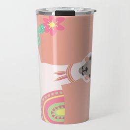 cute pastel baby lama Travel Mug