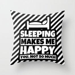 Sleeping Lover Gifts - Funny Sleep Humor Saying Throw Pillow