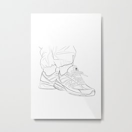 Sneaker Drawing - NB 1500 Metal Print