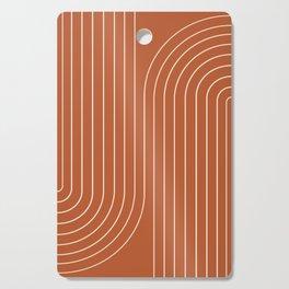 Minimal Line Curvature IX Cutting Board