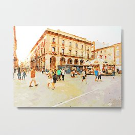 Teramo: square with carousel Metal Print