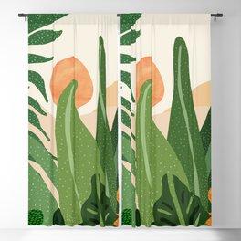 Desert Garden Sunset Blackout Curtain