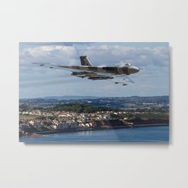 The Avro Vulcan flight at Dawlish 2015 Metal Print