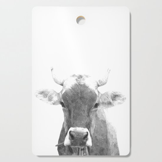 Cow black and white animal portrait by alemi