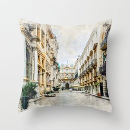 Trapani art 1 Throw Pillow