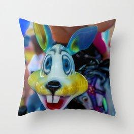 The colourful rabbit Throw Pillow