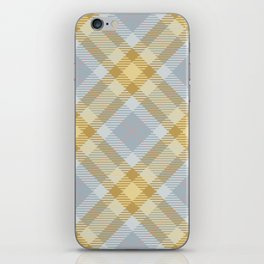 Yellow Gray Plaid Rug iPhone Skin