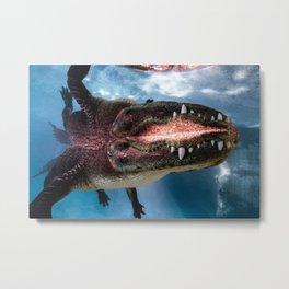Jurassic Mirror Metal Print