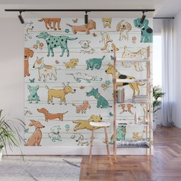 Dogs Dogs Dogs Wall Mural