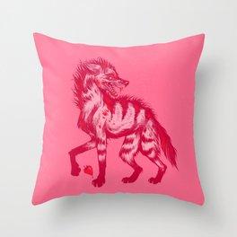 Strawberry Hyena Throw Pillow