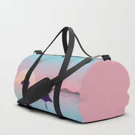 Flamingo Silhouette Beauty Art Duffle Bag