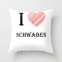 Swabian classic. I love my favorite country. Throw Pillow