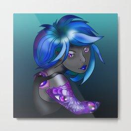Dark elf in shades of blue Metal Print