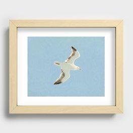 Sky Blue Sky - A Recessed Framed Print