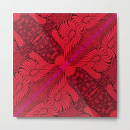 Diagonal Abstract Psychedelic Doodle 8 Metal Print