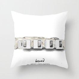 swedish lake lofts Throw Pillow