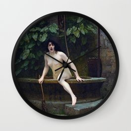 TRUTH COMING OUT OF HER WELL TO SHAME MANKIND - JEAN-LEON GEROME Wall Clock