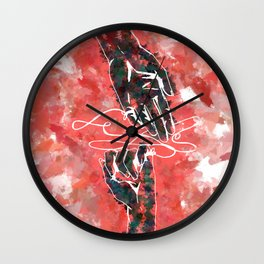 Akai Ito - Red String of Fate Wall Clock