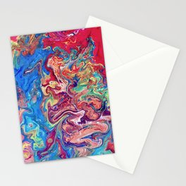 Go with the Flow, Abstract Fluid Acrylic Pour  Stationery Cards