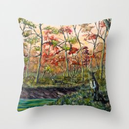 Old Rivals Throw Pillow