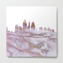 Cincinnati Skyline Ohio Metal Print
