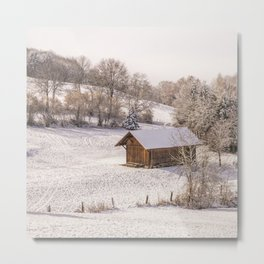 SCENERY 07 - Winter Snow Frost Home White Ice Metal Print