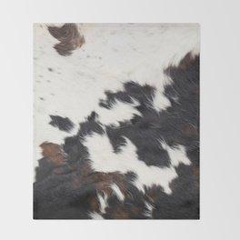 Brown Cowhide Throw Blanket