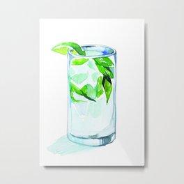 Mint Gin & Tonic Metal Print