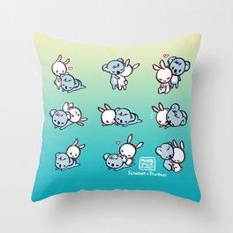 Kowawa x Bunbun Teal Version Throw Pillow