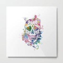 Sugar Skull Metal Print