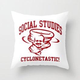 SOCIAL STUDIES CYCLONETASTIC Throw Pillow