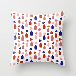 Vases pattern Throw Pillow