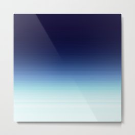 Blue Dark to Light Ombre Metal Print