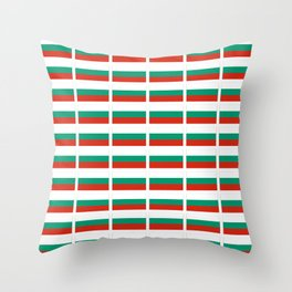 flag of bulgaria -bulgarian, България,български,slav,cyrillic,Sofia,bulgaria Throw Pillow
