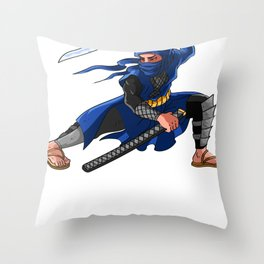 Ninja Anime Fans Ninjutsu Birthday Throw Pillow