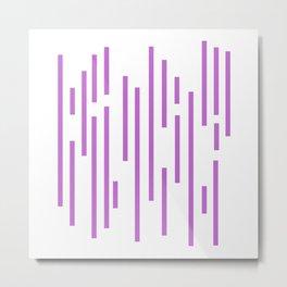 Minimalist Lines - Violet Metal Print
