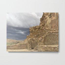 Chaco Canyon gathering Storm Metal Print