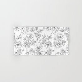 Pencil Flowers Hand & Bath Towel