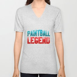 Paintball Legend Paintball Marker Paintball Player Gift Unisex V-Neck