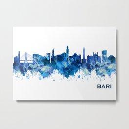 Bari Italy Skyline Blue Metal Print