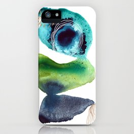 Through It All - Modern Abstract Watercolor Painting iPhone Case