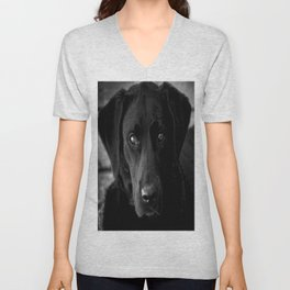 Loyalty  Black Lab  Unisex V-Neck