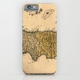 Map Of Hispaniola 1762 iPhone Case