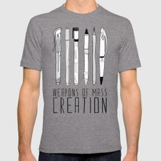 weapons of mass creation Tri-Grey MEDIUM Mens Fitted Tee