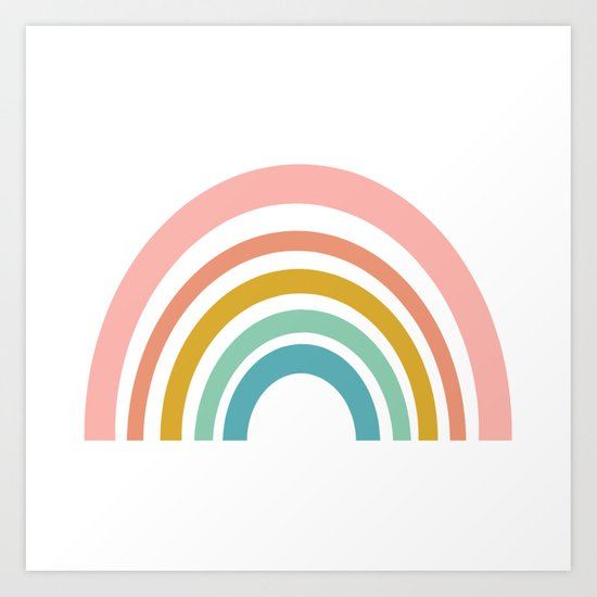 Simple Happy Rainbow Art by junejournal