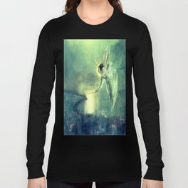 Spirit Of the Night by John Atkinson Grimshaw Long Sleeve T-shirt