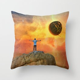 The End, Sci Fi Art, Home Decor, Scenic Wall Art, Printable Artwork, Digital Print, Fantasy Throw Pillow