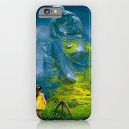 Lonely Mother Mountain (Painting) iPhone Case